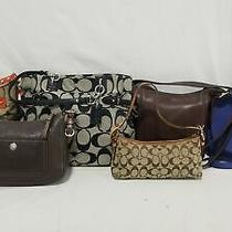 Lot of (5) Coach (1) Michael Kors Purses Photo