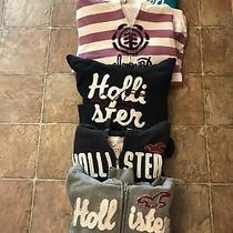 Lot of 5 Fall/winter Hoodies Includes Hollister Element Aeropostal Size L  Photo
