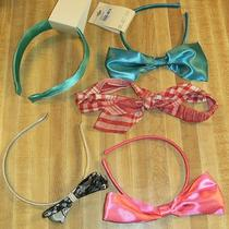 Lot of 5 Forever 21 Headbands Pearl Black Lace Aqua Red & White Pink Photo