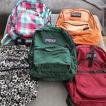 Lot of 5 Jansport Backpack Book Bag Day Right Pack Usa Vintage Trans Backpacks Photo