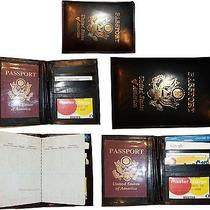 Lot of 5 New 4 Credit Cards  Id Lamb Skin Usa Leather Passport Case Wallet Bnwt Photo