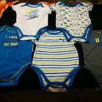 Lot of 5 (New) Puma Baby Boy Onesies Size 6-9 Months Photo