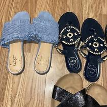 Lot of (5) Sandals/ Slides Preowned Size 8-9 Photo