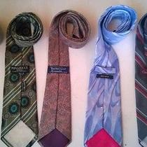 Lot of 5 Ties Zegna Escada Nina Ricci Oscar Dlr Burberry's Photo