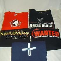Lot of 5 Video Game Tee Shirts - Adult Xl - Final Fantasy Rainbow Six Tenchu Photo