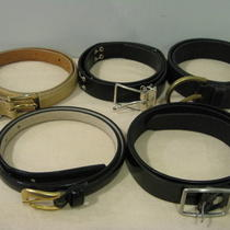 Lot of 5 Women's Accessory Belts Ann Taylors Gap Dkny Georgiou Photo