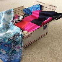 Lot of 50 Vintage Womens Scarves Including Armani Vera Silk and Polyester Photo