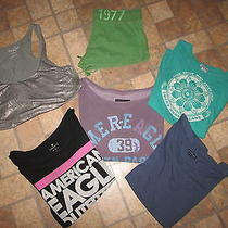 Lot of 6 American Eagle Sweatshirtshortsteetank - Size Xl- Awesome Lot Photo