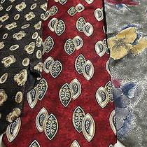 Lot of 6 Designer Mens Ties Christian Dior Blass Pierre Cardin Plus Others Photo