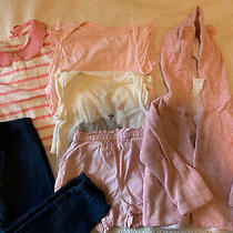 Lot of 6 Outfits Baby Gap Girl 6-12 Months Organic Cotton Tops Sweatshirt Photo