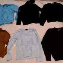 Lot of 6 Size L Mens Sweaters by Banana Republic Alfani Express J Ashford Boston Photo