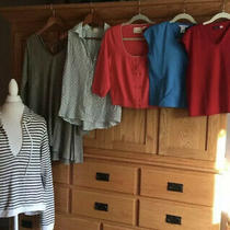Lot of 6 Sweater Sweatshirt Tee Shirt Af Guinevere Bella Dahl Medium Photo