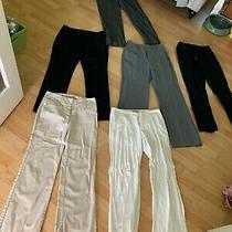 Lot of 6 Women's Size 7/8  Career Trousers Pants Express Peck & Peck Merona Xoxo Photo