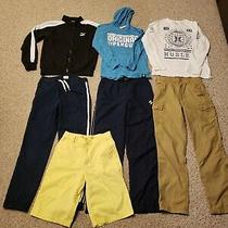 Lot of 7 Boys Pants Jacket Hoodie Shorts Shirt Size 14-16pumaold Navy Photo