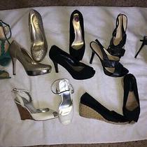 Lot of 7 Designer Heels Size 8  8 1/2 Charles David Nine West Guess Ivanka .... Photo