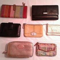Lot of (7) Fossil Wallets and Change Purses Photo
