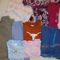 Lot of 7  Girls Sz 4 Clothes  Dress Skirt Pants Tops Photo