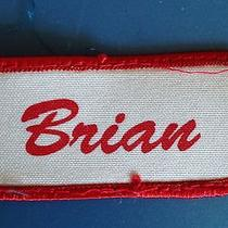 Lot of 8 Brian Name  Tag Work Jean Uniform Shirt T Bag Jacket Cap Hat Patch Photo