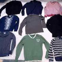 Lot of 9 Size M Mens Sweaters by Tasso Elba Alfani Perry Ellis Guess Club Room Photo