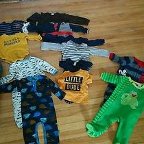 Lot of Baby Boy Onesies and Pajamas Carter  Disney  Gap  h&m 3-18m Photo