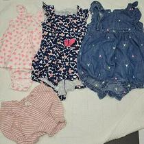 Lot of Baby Girl 12 Month Rompers Shorts. Gap First Impressions Carter's  Photo