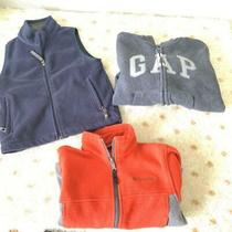 Lot of Boys Gap Rei Columbia Fleece Sweatshirts and Vest Size 4-5 Photo