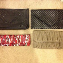 Lot of Clutch Handbags Arden B. h&m & Forever 21 Photo