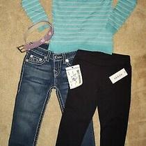 Lot of Girls Size 7 Clothes Guess True Religion New With Tags Children's Place Photo