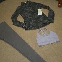 Lot of Lululemon Wunder Under Tights Half Zip Outrun the Elements Top Bra Sz 6 Photo