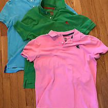Lot of Men's Express Polo Shirts Size Medium Green Pink Blue Photo