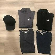 Lot of Mens Fitness--Champion 2 Sweatshirts Asics 2 Tops Small 2 Pants Small Photo