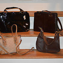 Lot of Name Brand Purses Coach Enzoneiman Marcus & Fossil Photo