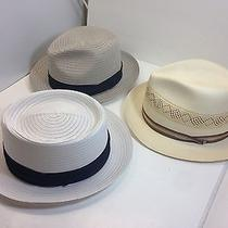 Lot of Three Men  Summer Straw Hat Fedora Summer Style Hats Size Xl Photo