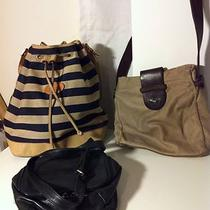Lot of Three Purses Bally Lucky Brand Hobo Intl  Need Repair Tlc Photo