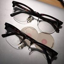 Lot of Two Ray Ban Rb 5201 2000 Tortoise 49mm Frames Eyeglasses Rx W/case Photo
