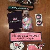 Lot of Vineyard Vines Collectibles Koozie Glasses Croakies Stickers Water Bottle Photo