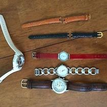 Lot of Watches- Mens and Womens Leather Bands. Fossil Skagen Timex Photo
