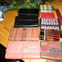 Lot Of10 Fossil Wallets and Watch Band Photo
