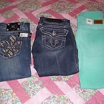 Lot Rock Revival  Miss Me Fossil Sz 26 Jeans New Preowned Thick Bling  Photo