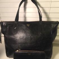 Lot Sale Fossil Sydney Shoulder Bag and a Wallet Leather Black Nwot Photo