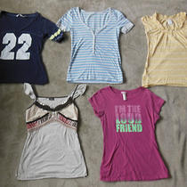 Lot Short Sleeve Summer Shirts Size Junior Womens Small Maurices Gap Vanity Photo