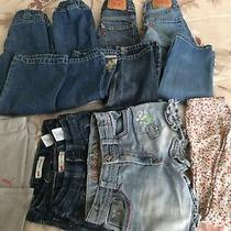 Lot Size 4/6 Girls 9 Items Jeans Shorts Levis Guess Disney Puma Photo