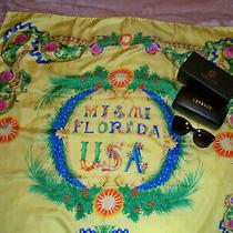 Lot Versace Miami Silk Scarf and 3 Medusa Head Sunglasses Mod 4281  Photo