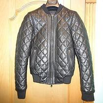 Lot78 Quilted Leather Bomber Jacket Size 36  Photo