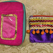 Lots 2-Pc Natural Life Multicolor Velvety Wristlet & Coin Wallets Photo
