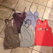 Lots of 5 Tanks Guess Abercrombie American Eagle Size S Photo
