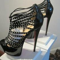 Louboutin Millaclou 160 Size Euro 37 or Usa 6.5 Resoled New Heel Taps Photo