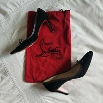 Louboutin Pointed Toe Suede Heels 38 Photo