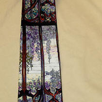 Louis Comfort Tiffany Hudson River Gallery Collection Silk Tie Stained Glass   Photo