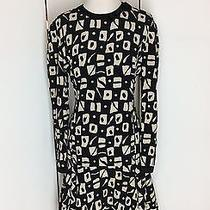 Louis Feraud Us 10/uk 14 100% Silk Shift Abstract Vintage Dress Anthropologie Photo